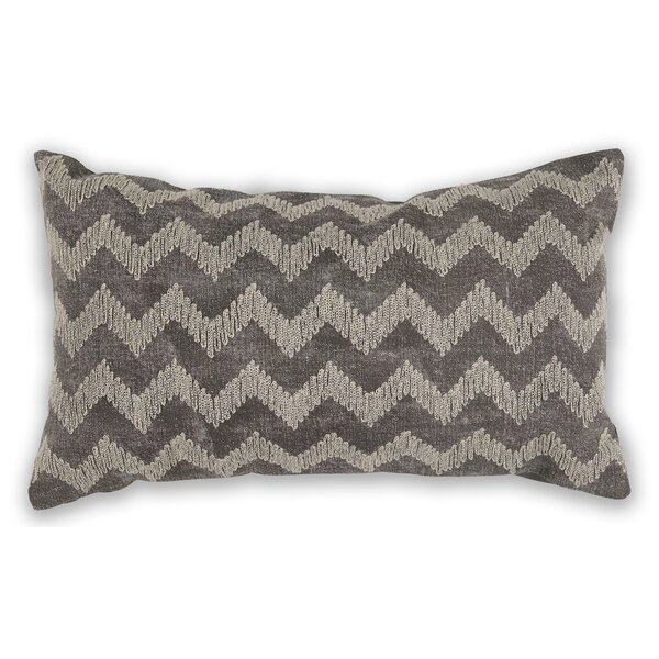 Montalvo Chevron 100% Cotton Lumbar Pillow by Ebern Designs